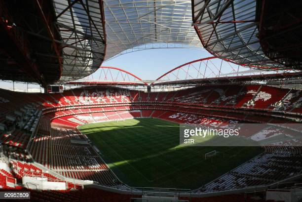 Aerial view taken 04 December 2003 of the Estadio da Luz in Lisbon the stadium of the Benfica football club The 65000 seats stadium the largest for...