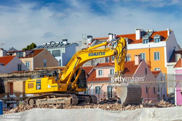 lisbon, portugal construction - komatsu stock pictures, royalty-free photos & images