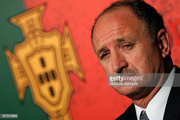 Portugal's Brazilian national soccer team coach Luis Felipe Scolari attends a press conference at the Portuguese football federation in Lisbon to...