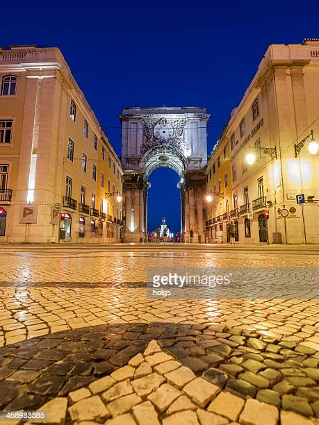 lisbon, portugal: rua augusta - rua stock pictures, royalty-free photos & images