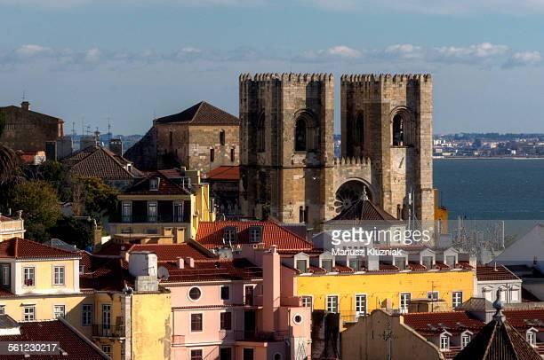 Lisbon Romanesque Cathedral and Alfama quarter