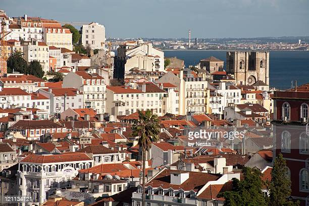 Lisbon skyline with Se Cathedral.