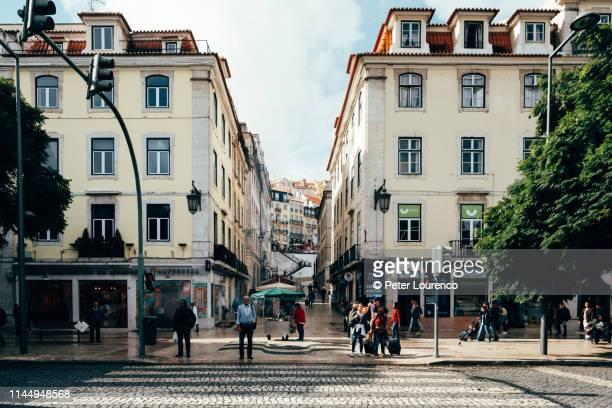 lisbon street view - peter lourenco stockfoto's en -beelden