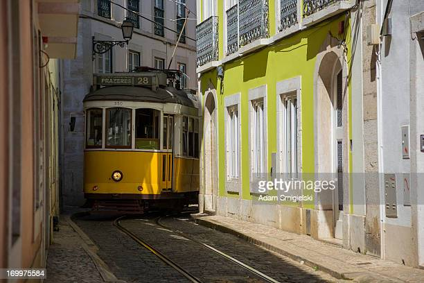 lisbon tram - borough district type stock pictures, royalty-free photos & images