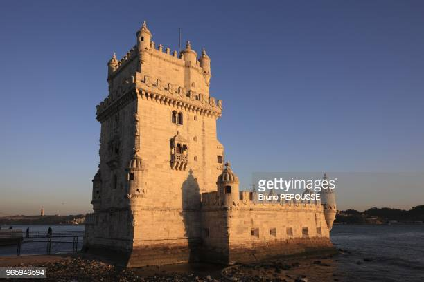LisbonBelem fortress tower classified at the Unesco world heritage