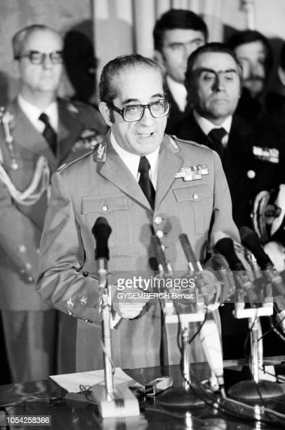 Lisbonne Portugal 26 mars 1975 Réunion du comité d'élection suivie de la cérémonie de prise de fonction du IVe gouvernement provisoire de la...
