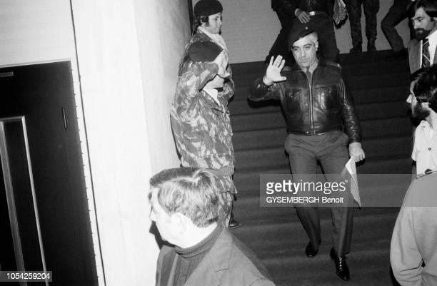 Lisbonne Portugal 8 avril 1975 Réunion du Mouvement des Forces armées dans le cadre de la campagne pour l'élection législative du 25 avril Le MFA fit...