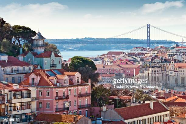lisbon's urban slyline - lisbon portugal stock pictures, royalty-free photos & images