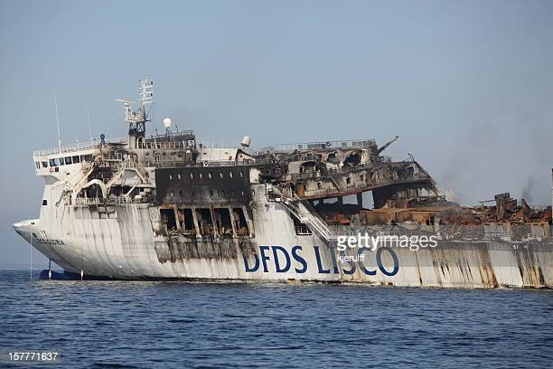 DFDS Lisco Gloria on fire