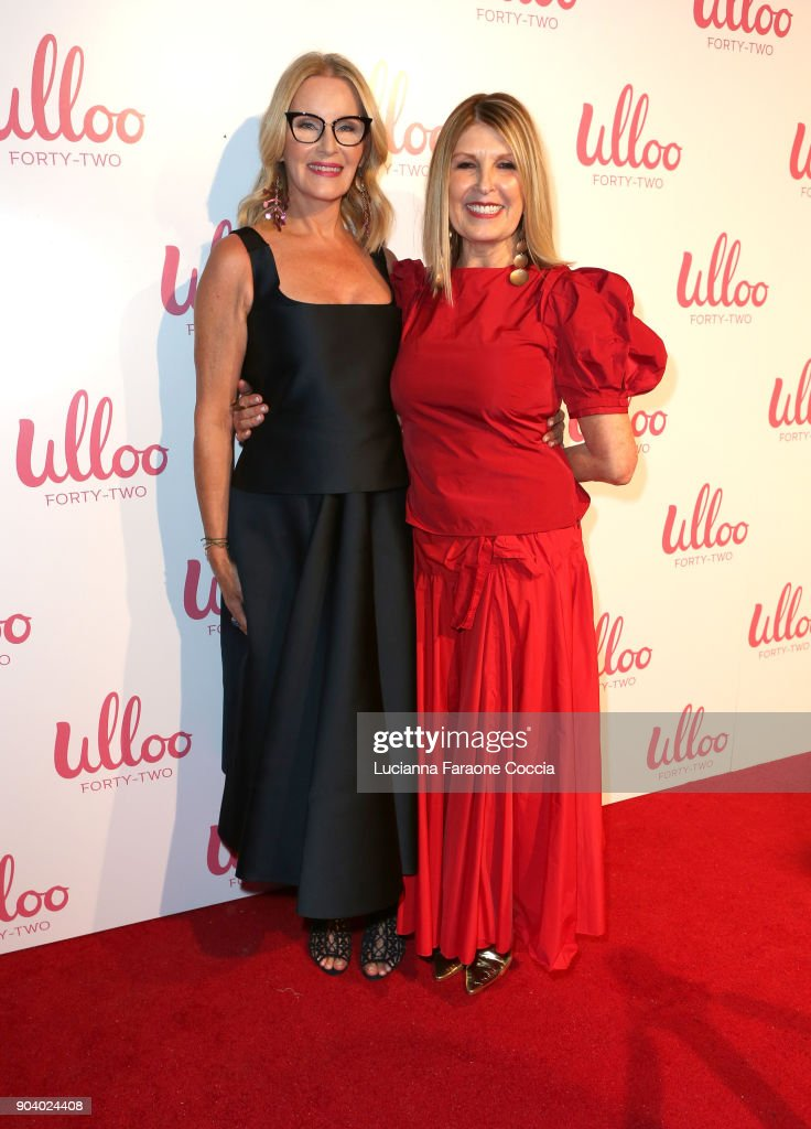 Lise Abraham (L) and Suzanne Currie attend Ulloo 42 Launch Party on January 11, 2018 in Los Angeles, California.