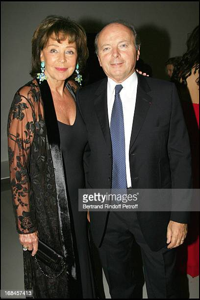 Lise and Jacques Toubon Private visit of the exhibition launch Yves Klein Corps Couleur Immateriel followed by a dinner to the benefit of the Claude...