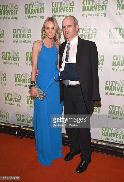 Lise and Michael Evans attend the City Harvest's 21st Annual Gala An Evening Of Practical Magic at Cipriani 42nd Street on April 30 2015 in New York...