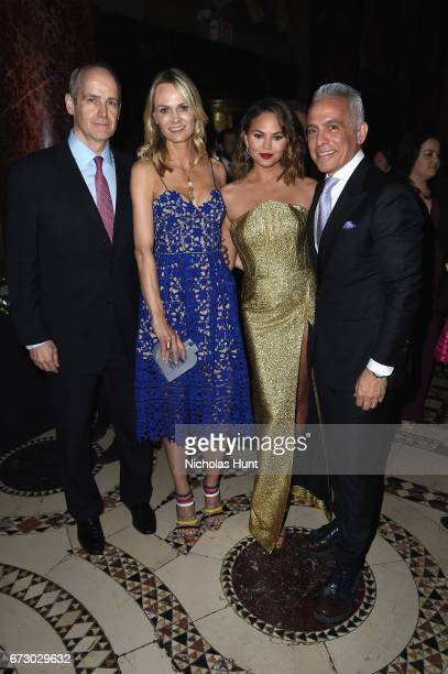 Lise and Michael Evans Chrissy Tiegen and Geoffrey Zakarian attend the City Harvest's 23rd Annual Evening Of Practical Magic at Cipriani 42nd Street...