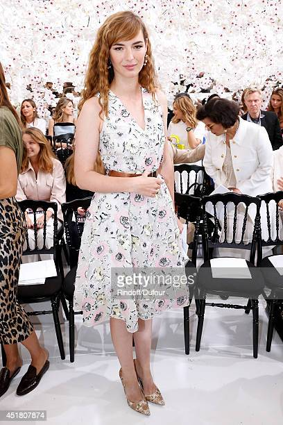 Lise Bourgoin attends the Christian Dior show as part of Paris Fashion Week Haute Couture Fall/Winter 20142015 Held at Musee Rodin on July 7 2014 in...