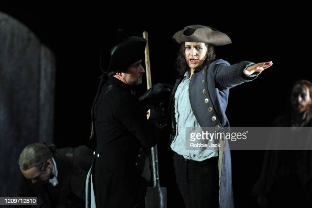 Lise Davidsen as Leonore and artists of the company in the Royal Opera's production of Beethoven's Fidelio directed by Tobias Kratzer and conducted...