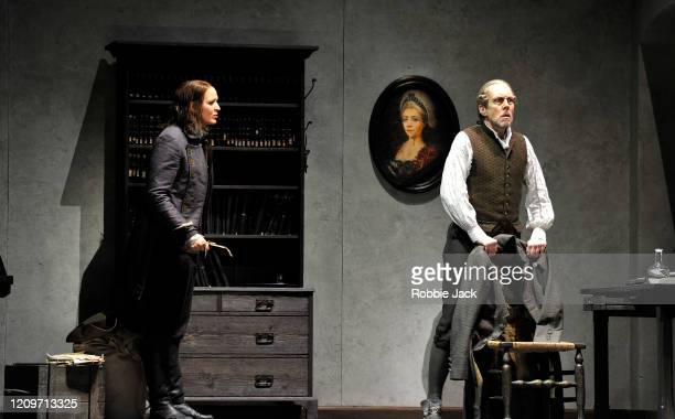 Lise Davidsen as Leonore and Georg Zeppenfeld as Rocco in the Royal Opera's production of Beethoven's Fidelio directed by Tobias Kratzer and...