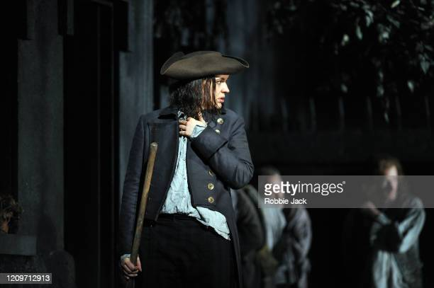 Lise Davidsen as Leonore in the Royal Opera's production of Beethoven's Fidelio directed by Tobias Kratzer and conducted by Antonio Pappano at The...