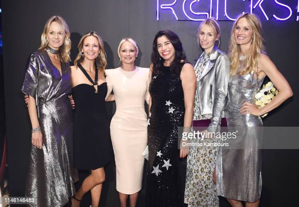 Lise Evans Kristen McMahon Heather Mnuchin Sandra Ripert Carola Jain and Christine Mack attend City Harvest The 2019 Gala on April 30 2019 at...