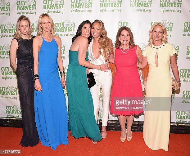 Lise Evans Sandra Ripert Chrissy Teigen Pamela Kaufmann and Heather Mnuchin attend the City Harvest's 21st Annual Gala An Evening Of Practical Magic...