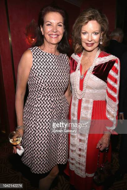 Lise Honore and Margo Langenberg attend David Patrick Columbia And Chris Meigher Toast The QUEST 400 At DOUBLES on September 27 2018 in New York City