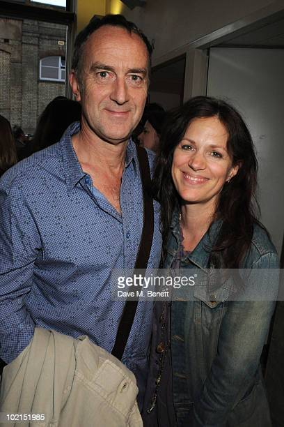 Lise Meyer and Angus Deayton attend the press night of 'Through A Glass Darkly' at the Almeida Theatre on June 16 2010 in London England