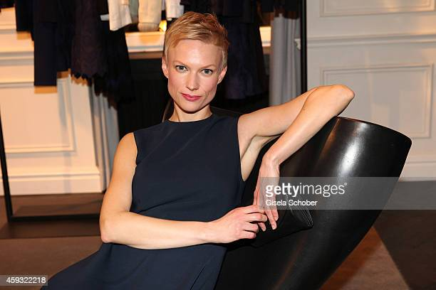 Lise Risom Olsen poses during MaryKate Olsen and Ashley Olsen present their collection 'The Row' at Marion Heinrich on November 20 2014 in Munich...