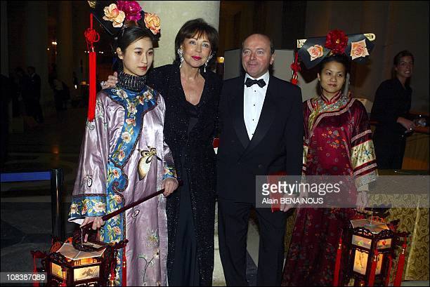 Lise Toubon and her husband Jacques Toubon in Versailles France on February 03 2003