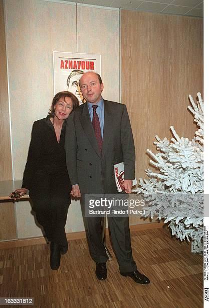 Lise Toubon and wife Jacques Toubon at The Palais Des Congres In Paris