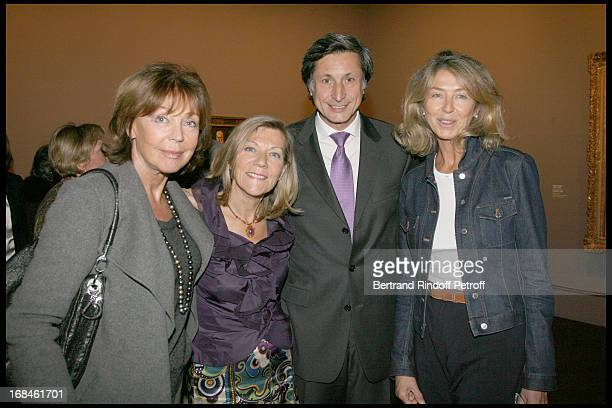 Lise Toubon Patrick of Carolis and his wife CarolAnne Sophie Deniaud at Private Viewing Of The Exhibition Picasso Et Les Maitres At Grand Palais In...