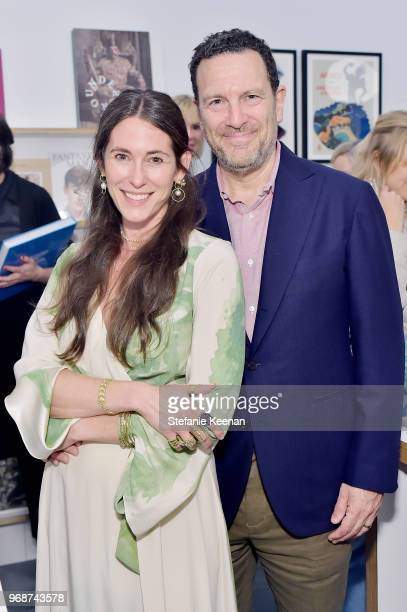 Liseanne Frankfurt and Peter Frankfurt attend LACMA Director's Circle Celebrates The Wear LACMA Spring 2018 Collection With Designs By LFrank and...