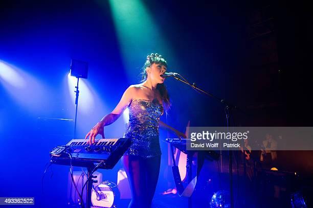 Liseaupiano AKA Lise opens for Emji at Cafe de la Danse on October 19, 2015 in Paris, France.