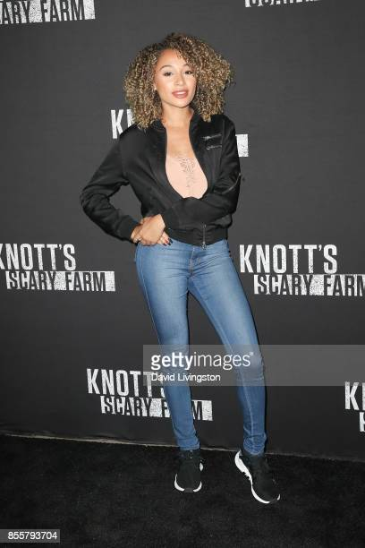Lisette Bogley attends the Knott's Scary Farm and Instagram's Celebrity Night at Knott's Berry Farm on September 29 2017 in Buena Park California