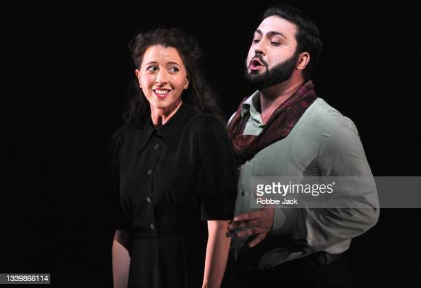 Lisette Oropesa as Gilda and Liparit Avetisyan as Duke of Mantua in Giuseppe Verdi's Rigoletto directed by Oliver Mears and conducted by Antonio...