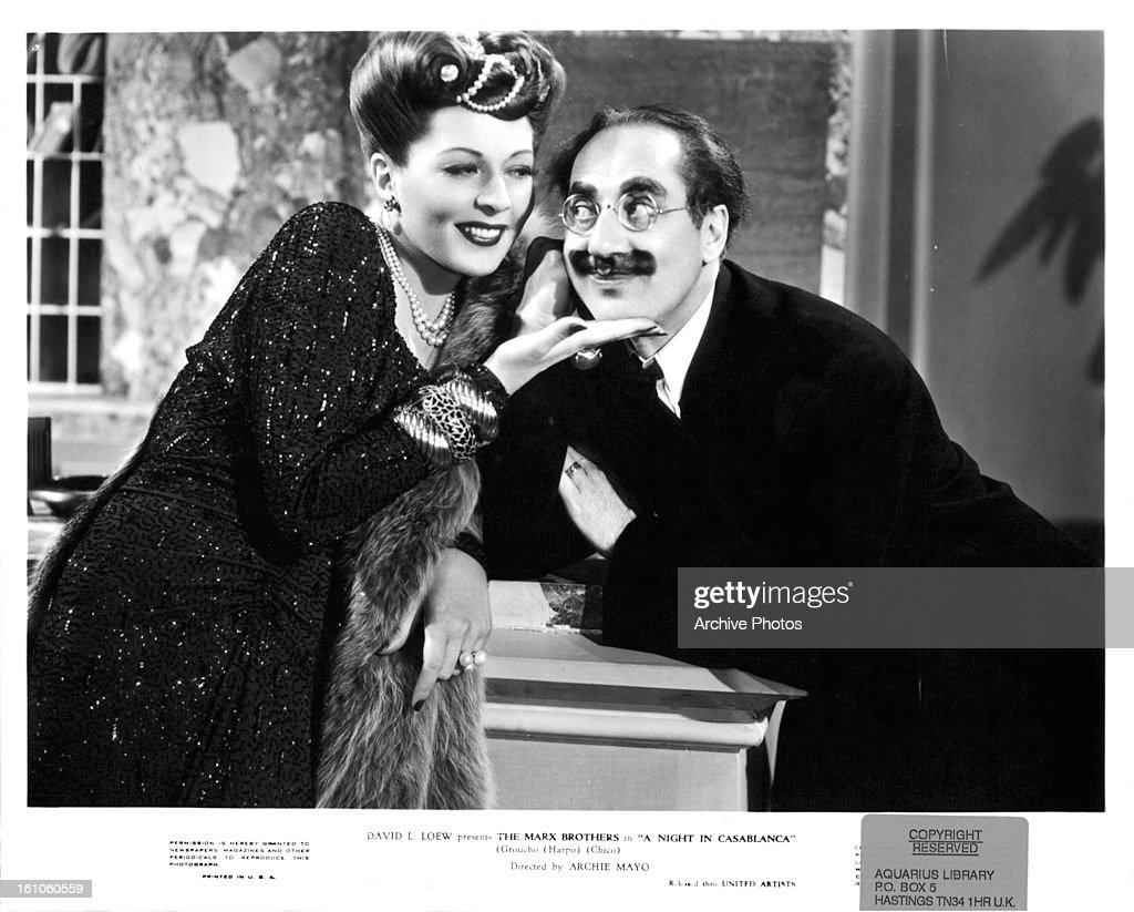 Lisette Verea And Groucho Marx In 'A Night In Casablanca' : News Photo