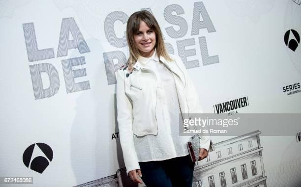 Lisi Linder attends 'La Casa de Papel' Madrid Premiere on April 24 2017 in Madrid Spain