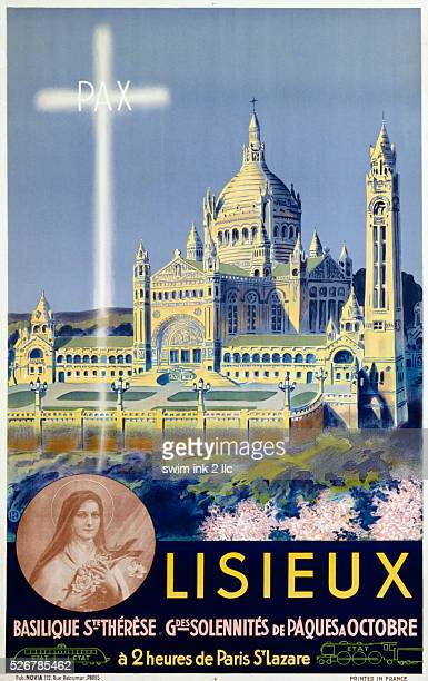 Lisieux Poster Depicting the Basilica of SainteTherese