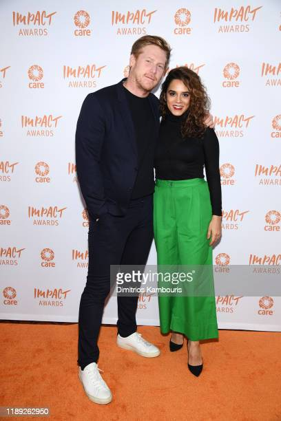 Lisle Richards and Sepideh Moafi attend the 2nd Annual CARE Impact Awards Dinner at Mandarin Oriental on November 21 2019 in New York City
