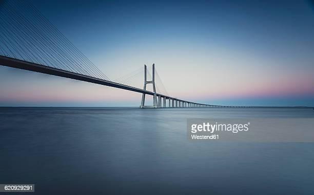 Lissboa, Vasco da Gama bridge in the morning