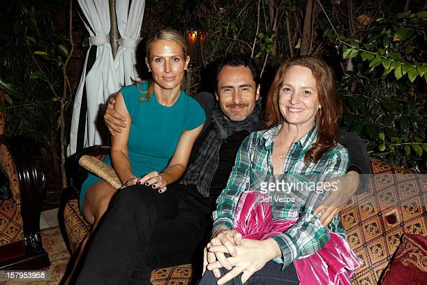 Lisset Gutierrez actor Demian Bichir and actress Mellissa Leo attends the SILVER LININGS PLAYBOOK Event Hosted By Lexus And Purity Vodka at Chateau...