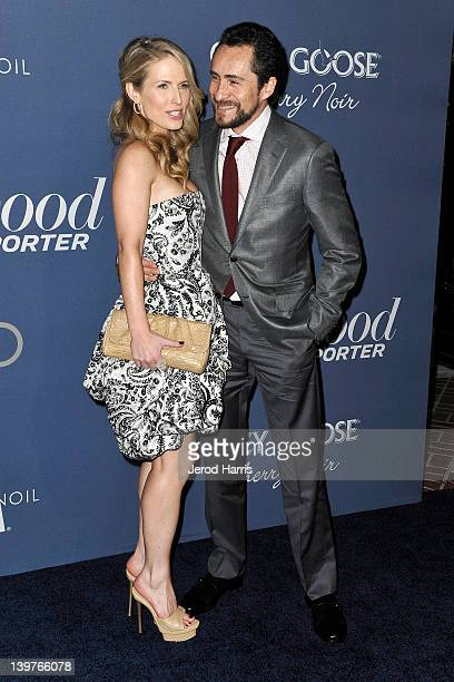 Lisset Gutierrez and actor Demian Bichir arrive at The Hollywood Reporter celebrates the 84th annual Academy Awards nominees at the Getty House on...