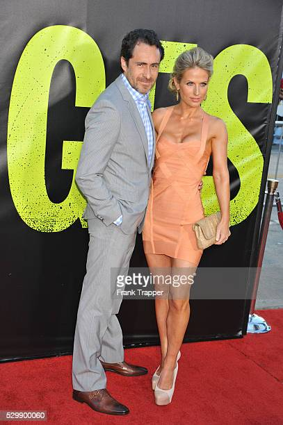 Lisset Gutierrez and actor Demian Bichir arrive at the premiere of Savages held at Mann Village Theater in Westwood