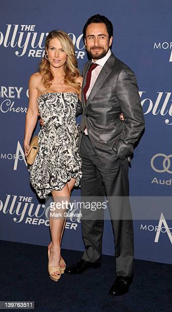 Lisset Gutierrez and actor Demian Bichir arrive for The Hollywood Reporter's 84th Annual Academy Awards nominees celebration at The Getty House on...