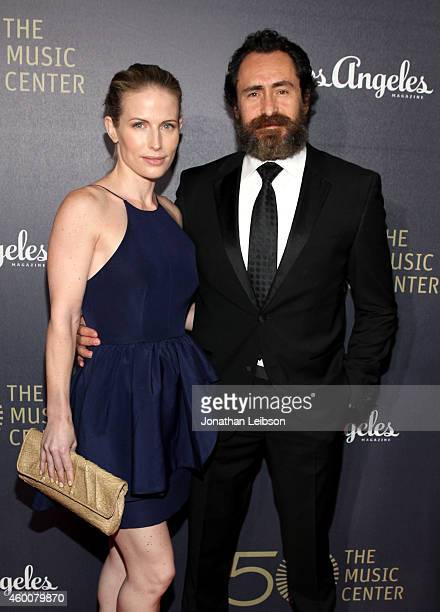 Lisset Gutierrez and actor Demian Bichir attend The Music Center's 50th Anniversary Spectacular at The Music Center on December 6 2014 in Los Angeles...