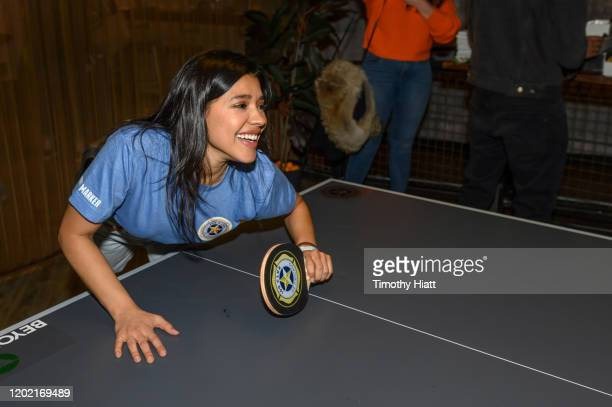 Lisseth Chavez of Chicago PD participates in the Paddle Battle to benefit the 100 Club of Chicago at SPiN Chicago on January 26 2020 in Chicago...