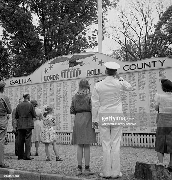 List of County Boys who have gone off to War Gallipolis Ohio USA Arthur S Siegel for Office of War Information June 1943