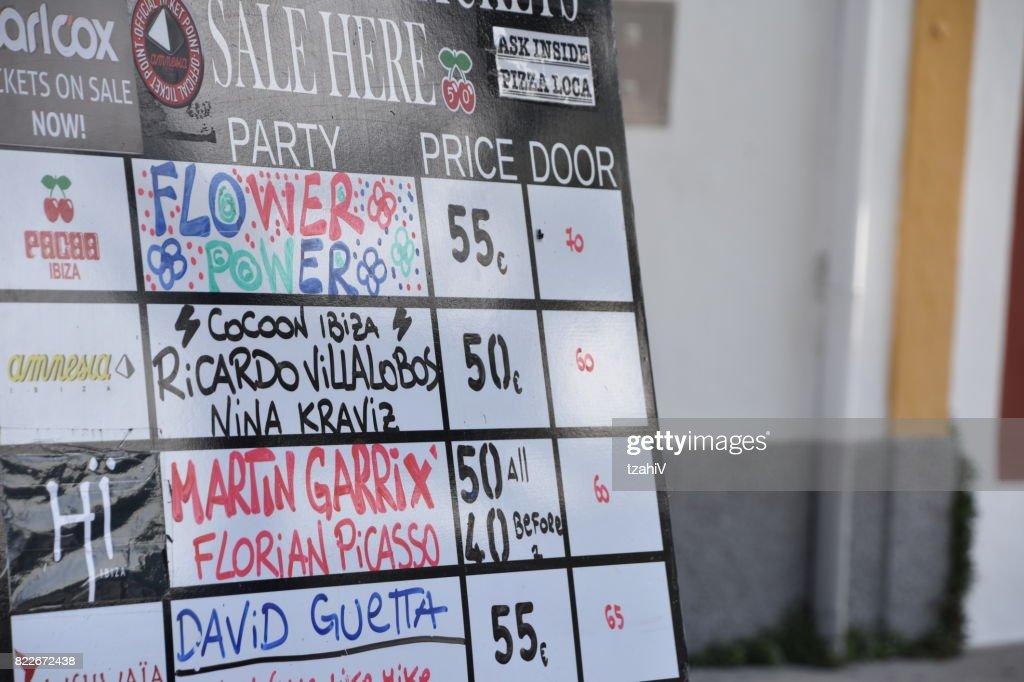 List of Ibiza shows : Stock Photo