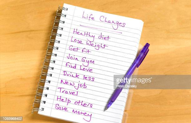 list of life changes - decisions stock pictures, royalty-free photos & images