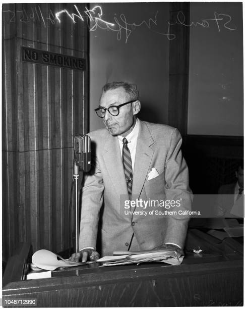 List of persons who will appear before Board of Governors attorneys meeting to disbar reds 16 February 1955 Louis W LawsonRobert W KennyBen...
