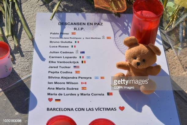 A list of victims who lost their lives in the attack seen at the port of Cambrills 5 Islamic jihadist terrorist attacked bystanders with knives after...