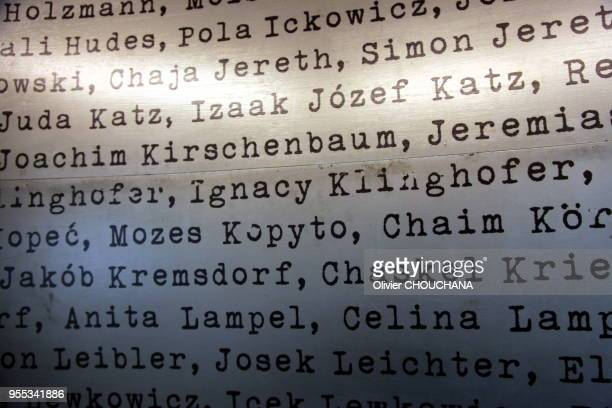 Liste des gens sauves dans l'ancienne usine reconvertie en musee du celebre Oskar Schindler, l'industriel allemand membre du parti nazi, qui sauva...